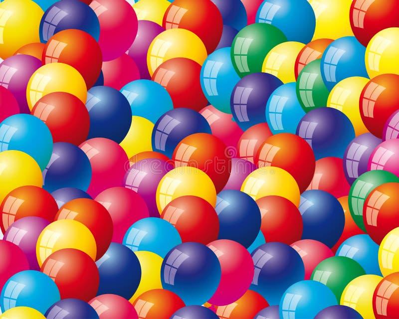 Hintergrund mit Luftballonen stock abbildung