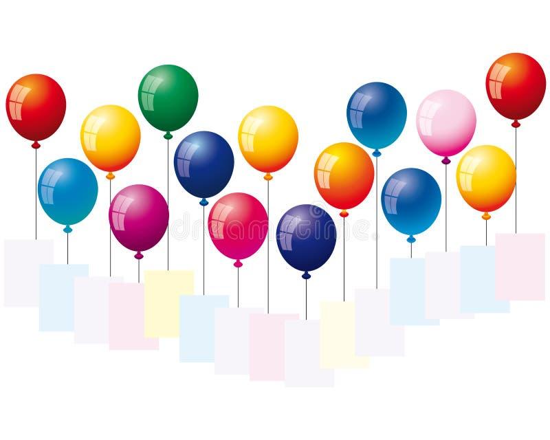 Hintergrund mit Luftballonen vektor abbildung