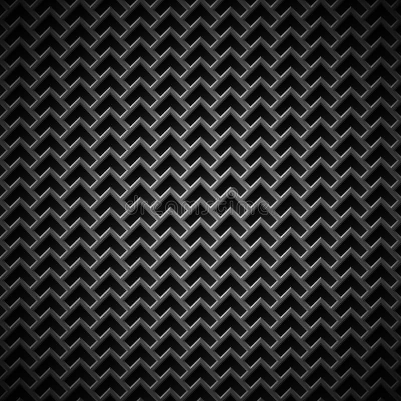 Hintergrund mit nahtloser schwarzer Kohlenstoff-Beschaffenheit lizenzfreie abbildung