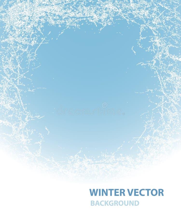 Hintergrund mit Raureif für Winterurlaub stock abbildung