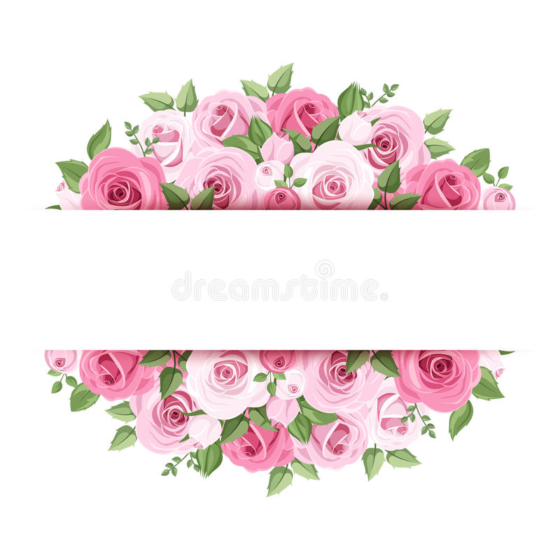 Hintergrund mit rosa Rosen. lizenzfreie abbildung