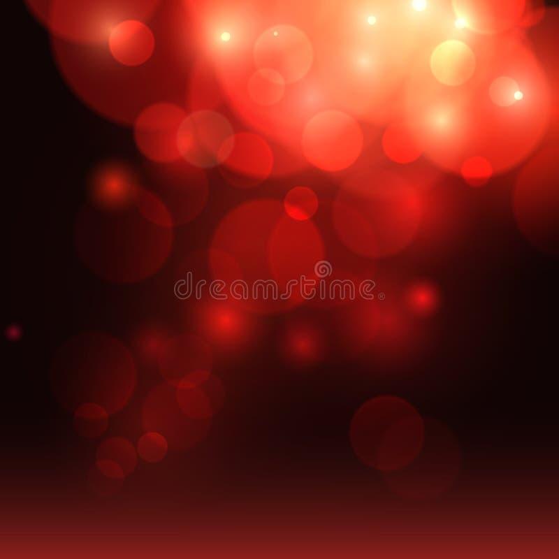 Hintergrund mit rotem bokeh, funkelt Rote Rose Roter Hintergrund des romantischen Liebeszusammenfassungs-Valentinsgrußes Auch im  lizenzfreie abbildung