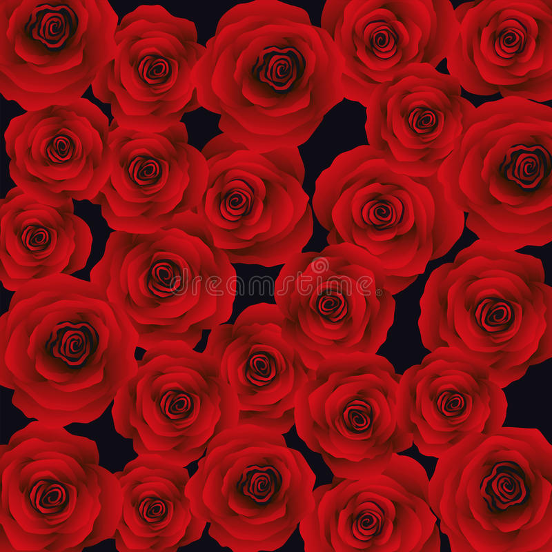 Hintergrund mit roten Rosen, Vektor stockbilder