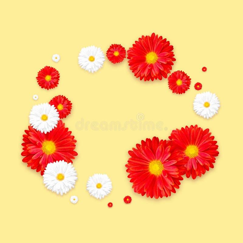 Hintergrund mit schöner bunter Blume Tapezieren Sie Flieger, Einladung, Poster, Broschüre, Belegrabatt stockbilder