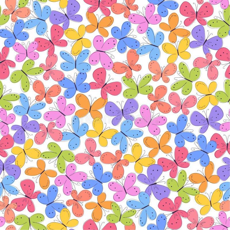 Hintergrund mit Schmetterling vektor abbildung