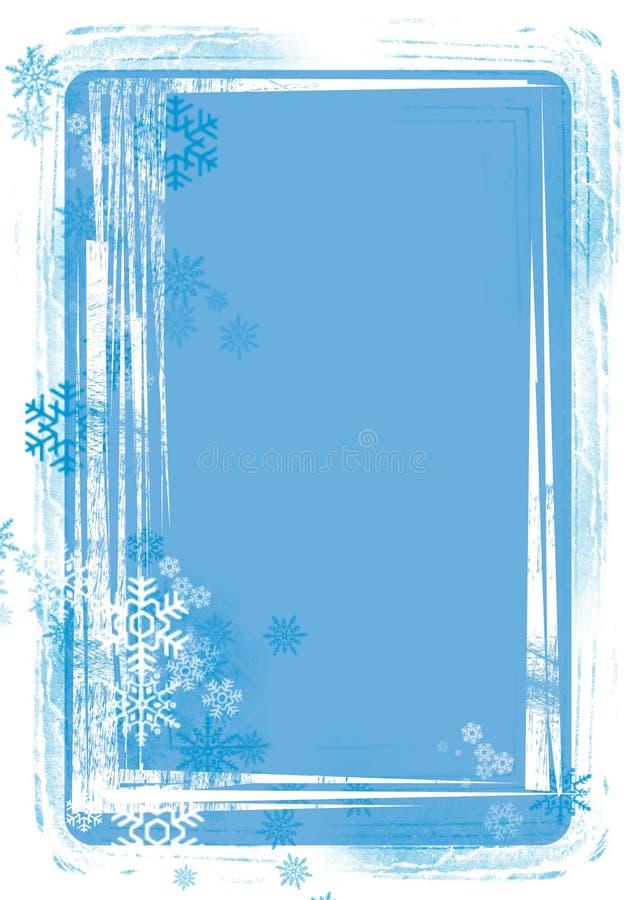 Hintergrund mit Schneeflocke lizenzfreie abbildung