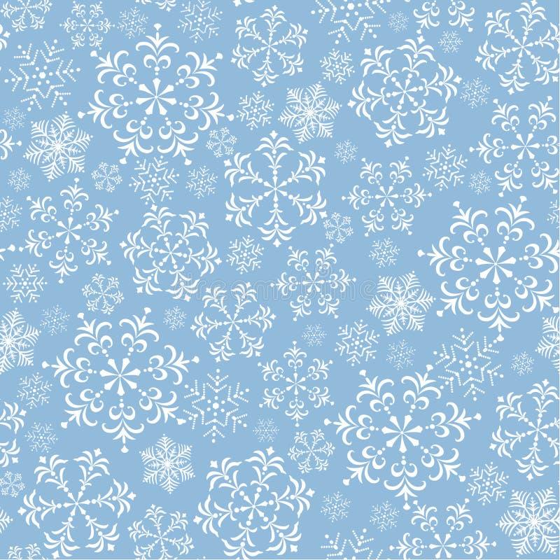 Hintergrund mit Schneeflocken stock abbildung