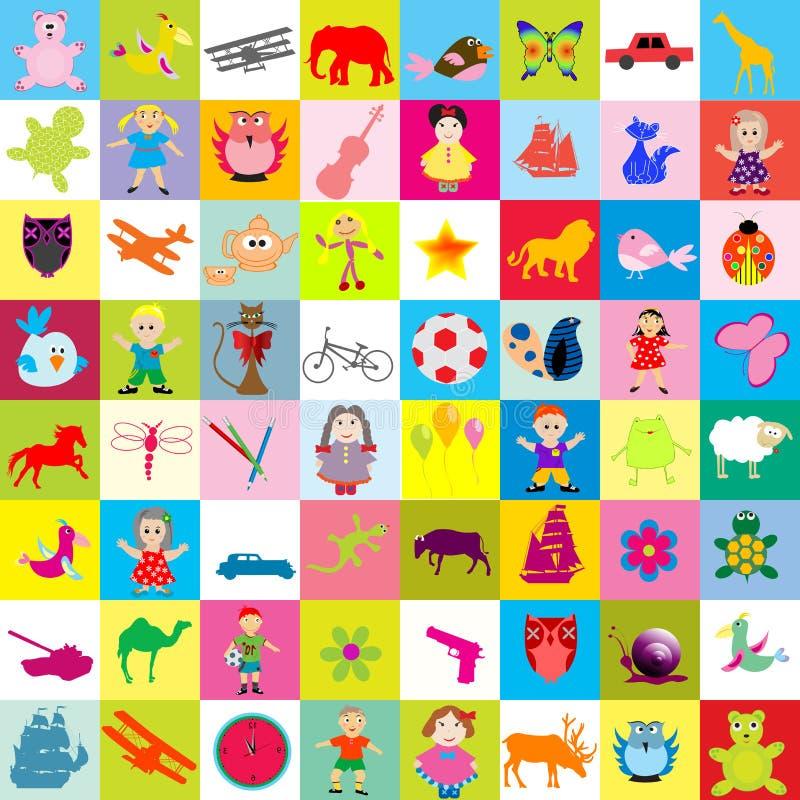 Hintergrund mit Spielwaren für Kinder lizenzfreie abbildung