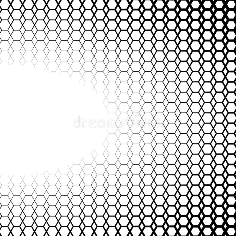 Hintergrund mit Steigung von Schwarzweiss-Hexen lizenzfreie abbildung