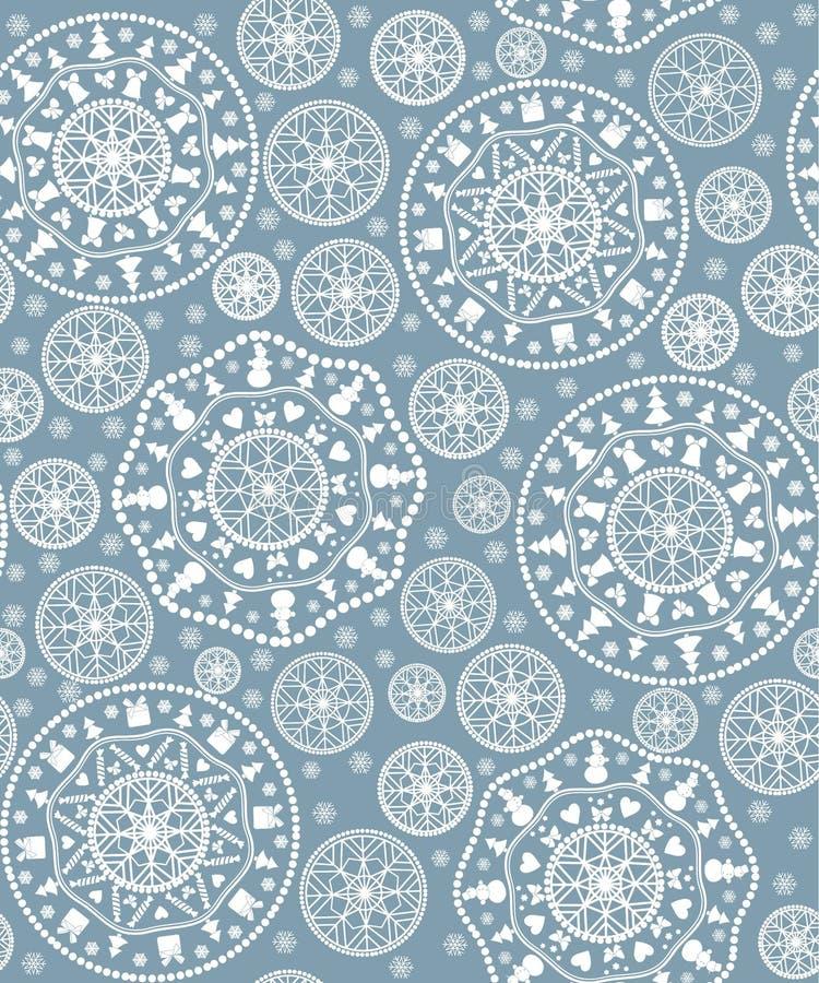 Hintergrund mit stilisiert Weihnachtsschneeflocke lizenzfreie abbildung