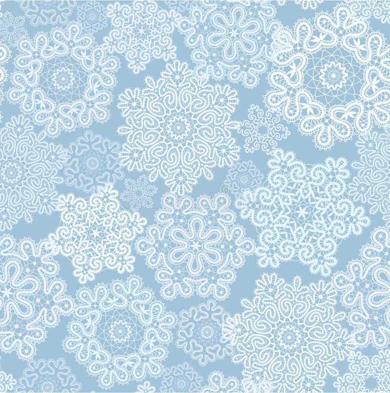 Hintergrund mit stilisierter Weihnachtsschneeflocke stock abbildung