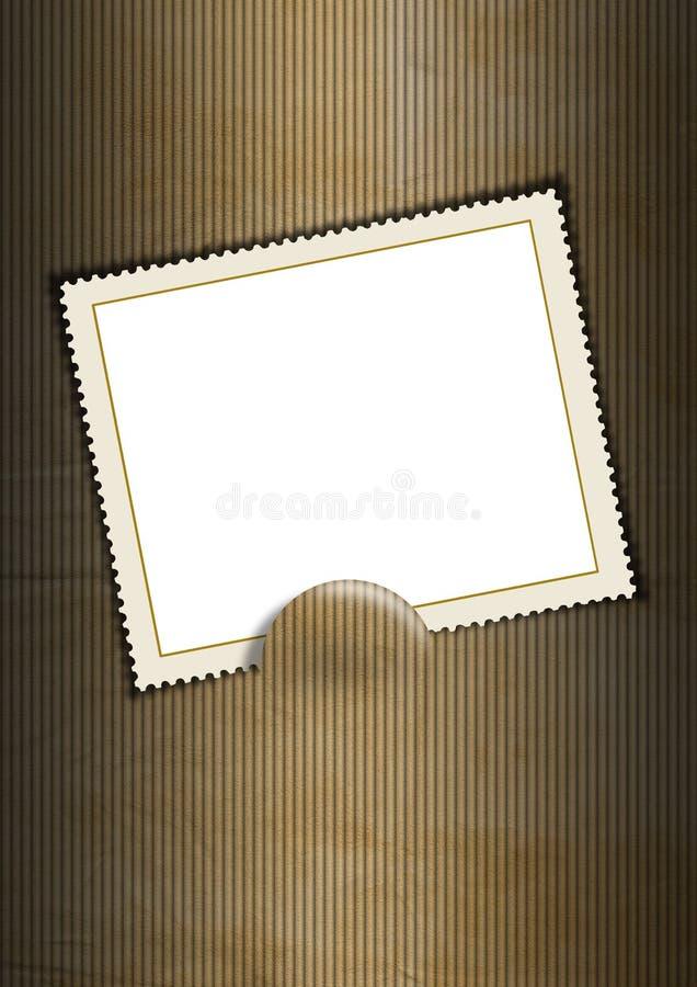Hintergrund mit unbelegtem Stempel vektor abbildung