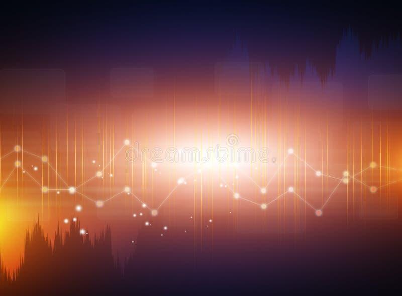 Hintergrund mit virtueller Technologie lizenzfreie abbildung