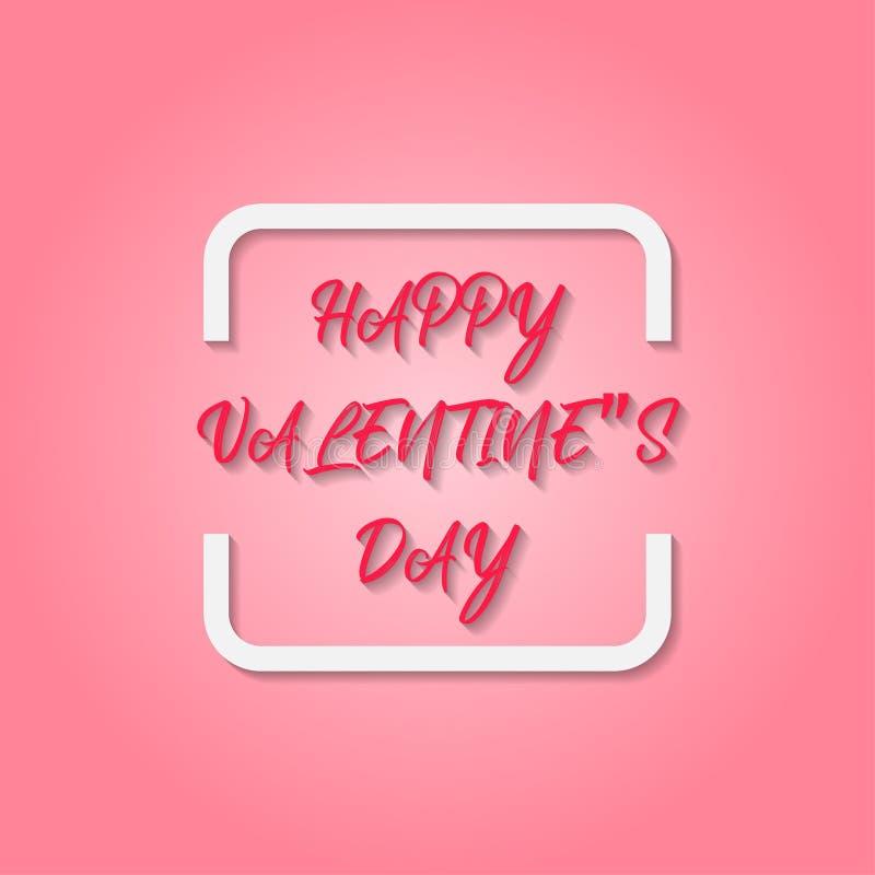 Hintergrund mit weißen Herzen für Valentinstag stockbild