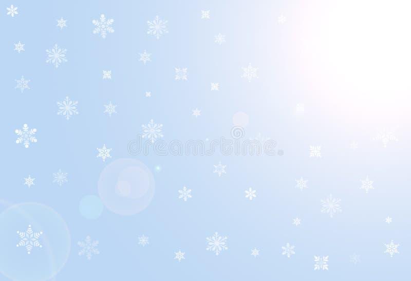 Hintergrund mit weißen Schneeflocken stockfotos