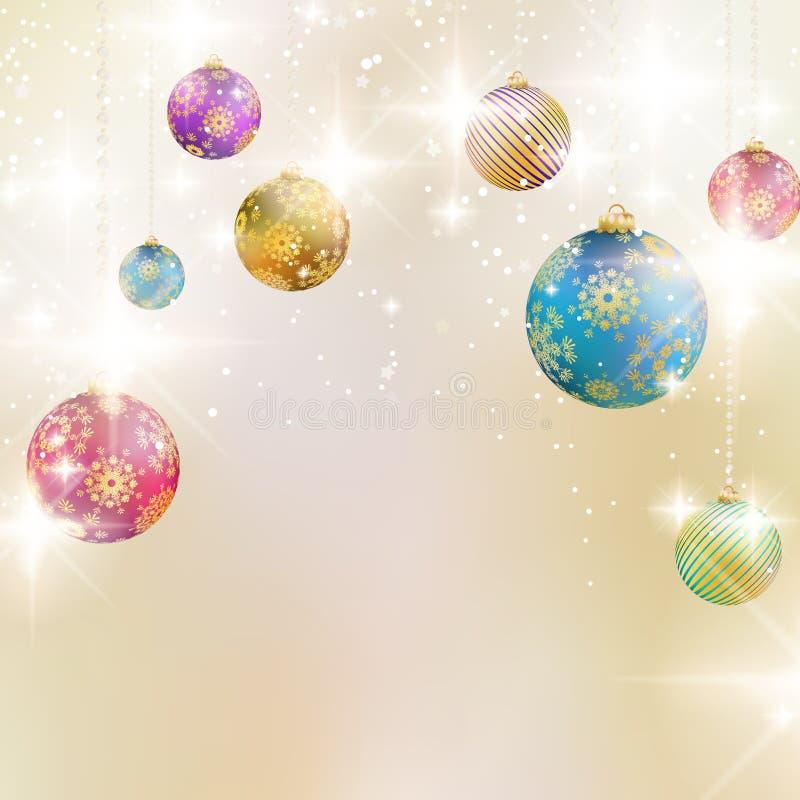 Hintergrund mit Weihnachtsbällen. lizenzfreie abbildung