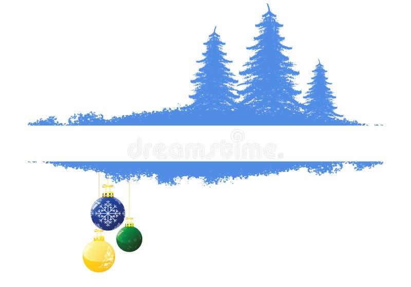 Hintergrund mit Weihnachtsbaum stock abbildung