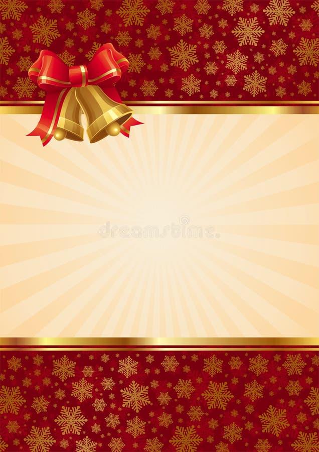 Hintergrund mit Weihnachtshandglocken vektor abbildung
