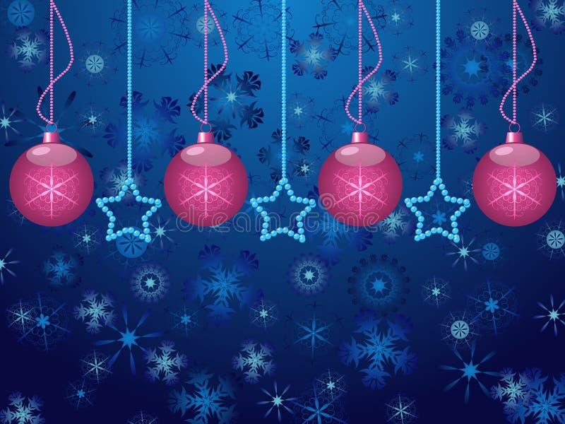 Hintergrund mit Weihnachtskugeln stock abbildung