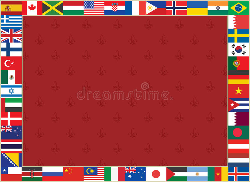 Hintergrund mit Welt kennzeichnet Rahmen vektor abbildung