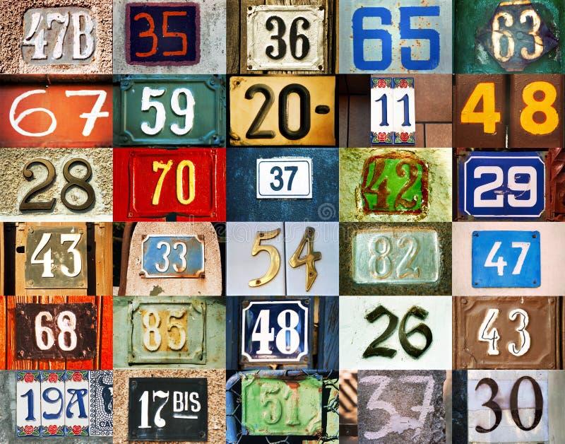 Hintergrund mit Zahlen stockfotos