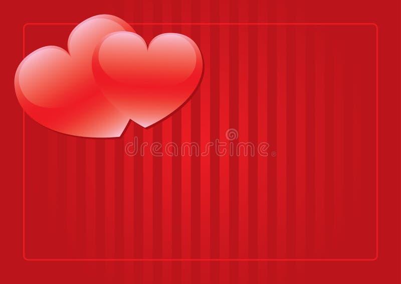 Hintergrund mit zwei roter Inneren lizenzfreie stockfotos