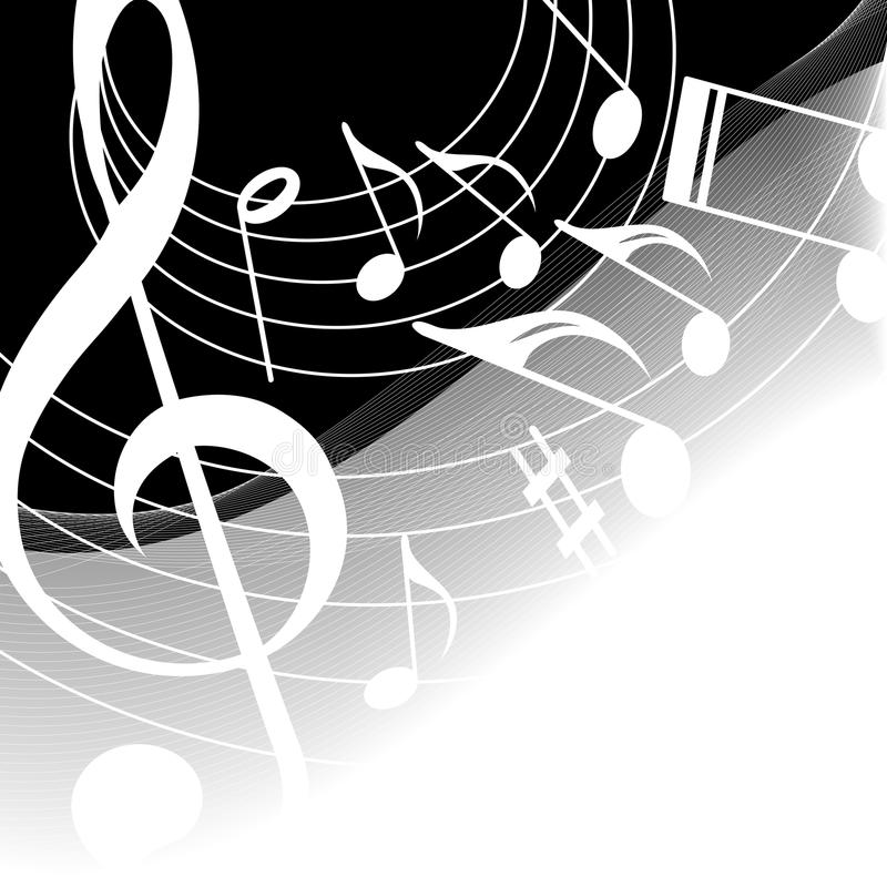 Hintergrund-Musik vektor abbildung