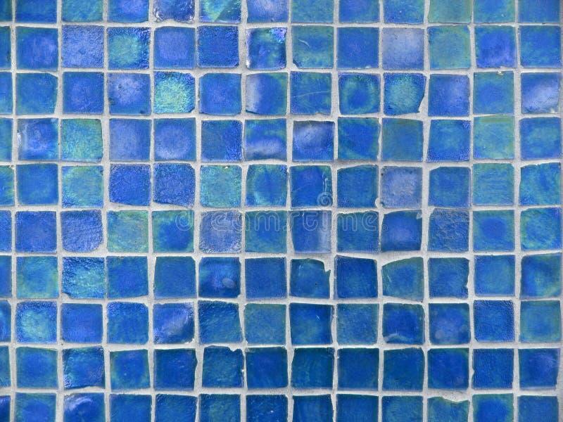 Hintergrund-Muster des Türkises und der blauen Glasfliesen stockfoto