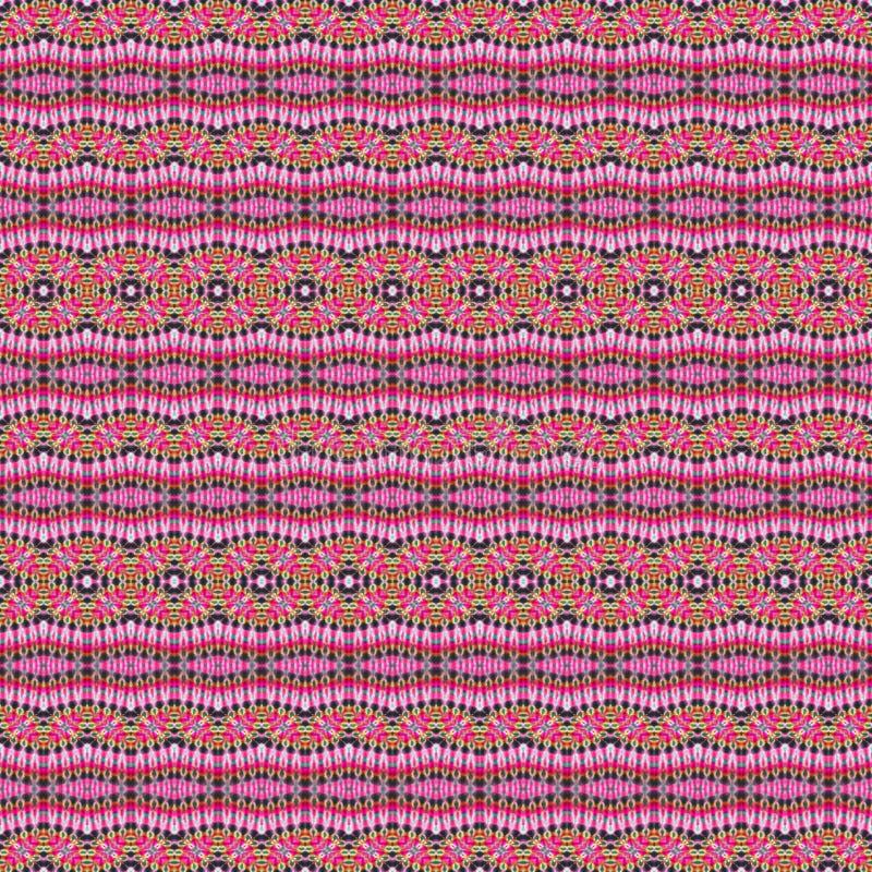 Hintergrund-nahtloses abstraktes Bindungs-Färbungs-Muster stockfoto