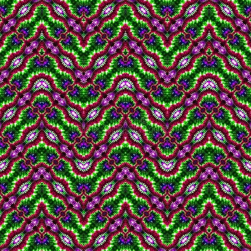 Hintergrund-nahtloses abstraktes Bindungs-Färbungs-Muster stockfotos