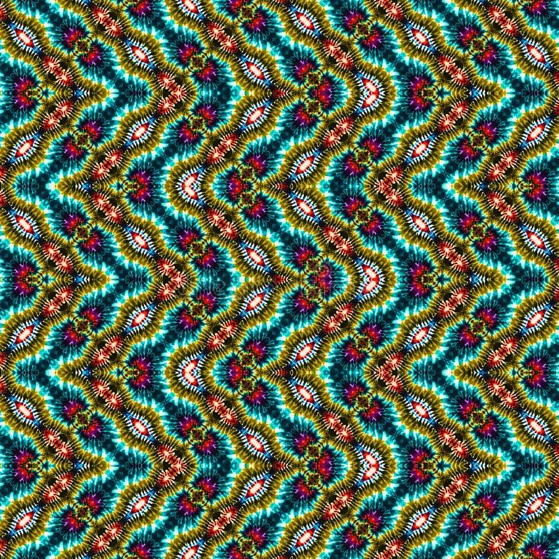 Hintergrund-nahtloses abstraktes Bindungs-Färbungs-Muster stockfotografie
