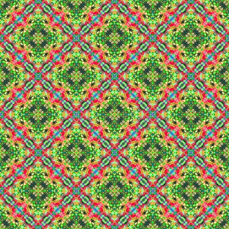Hintergrund-nahtloses abstraktes Bindungs-Färbungs-Muster lizenzfreie stockfotos