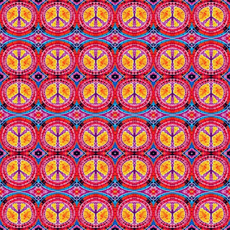 Hintergrund-nahtloses abstraktes Bindungs-Färbungs-Muster stockbilder