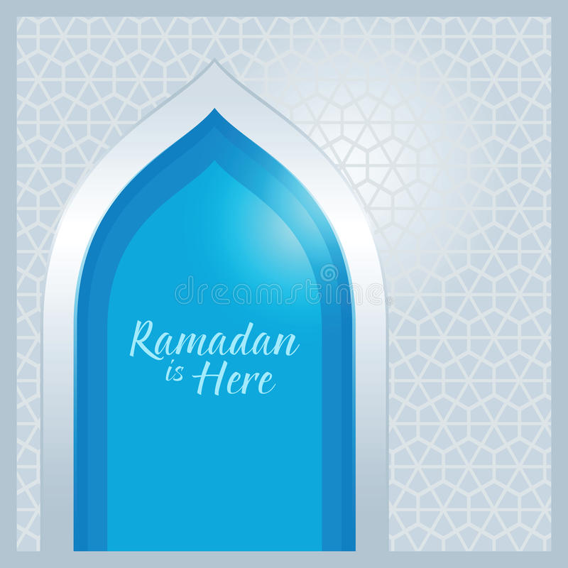 Hintergrund Ramadan Is Here Islamic Abstracts Ornamnet stock abbildung