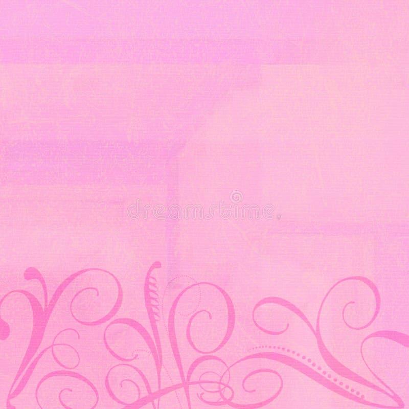 Hintergrund-Rosa mit Swirlies stockfoto