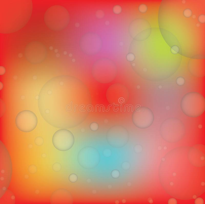 Hintergrund rotes orange Bokeh, Vektor-Illustration EPS10 vektor abbildung
