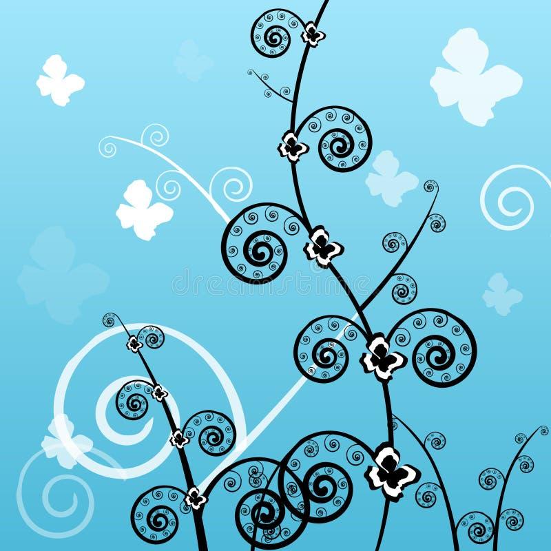 Hintergrund, Schönheit, Auslegung, mit Blumen vektor abbildung