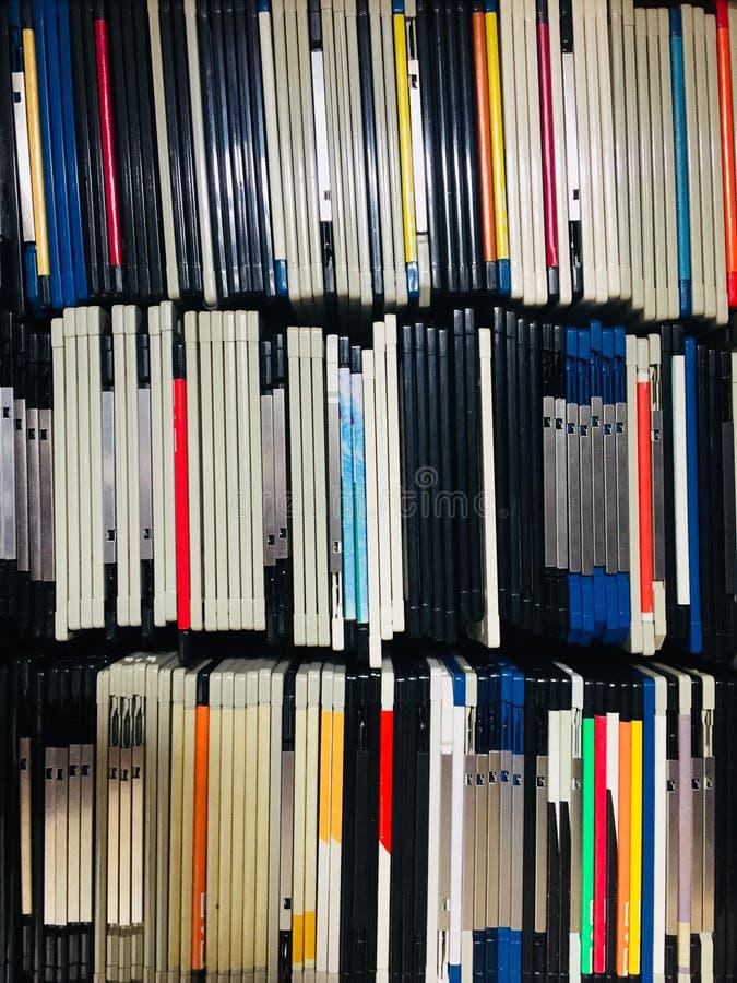Hintergrund, Tapetenbild mit alten Disketten stockbilder
