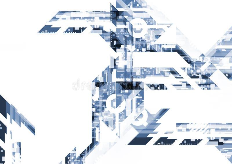 Hintergrund-Technologierechnerschaltung des Geometriedesigns elektronische abstrakte lizenzfreie abbildung