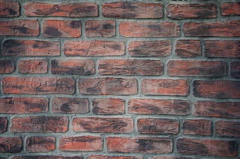 Hintergrund und Beschaffenheit von Ziegelsteinen auf der Wand spr?nge besch?digung stockbilder