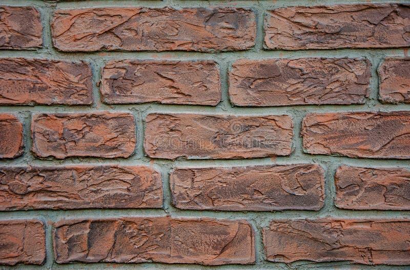 Hintergrund und Beschaffenheit von Ziegelsteinen auf der Wand spr?nge besch?digung lizenzfreies stockfoto