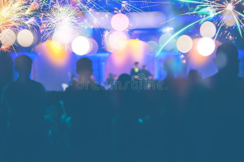 Hintergrund unscharfes bokeh Licht-Zeremonien Feuerwerke lizenzfreies stockfoto