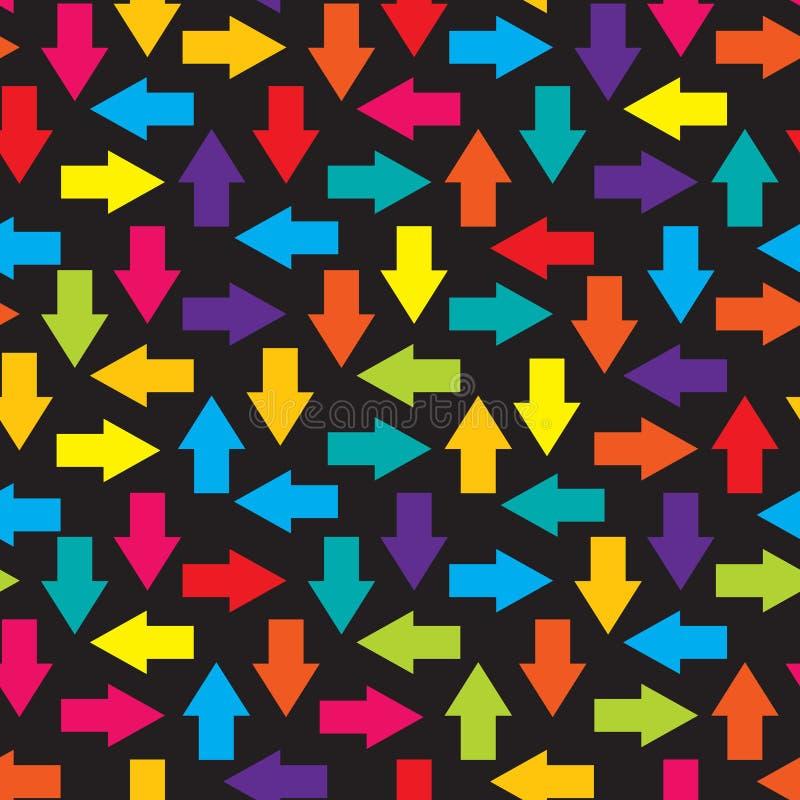 Hintergrund-Vektorillustration der Pfeile nahtlose stock abbildung
