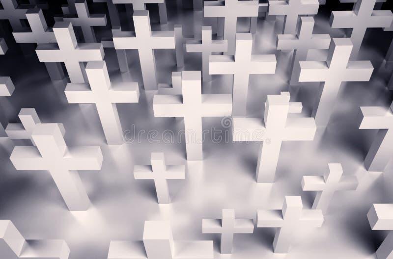 Hintergrund vieler Kreuze lizenzfreie abbildung