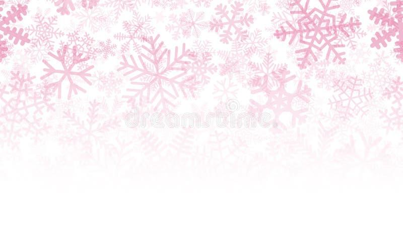 Hintergrund vieler Schichten Schneeflocken vektor abbildung