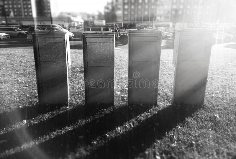 Hintergrund vier senkrechter Spalten stockfoto