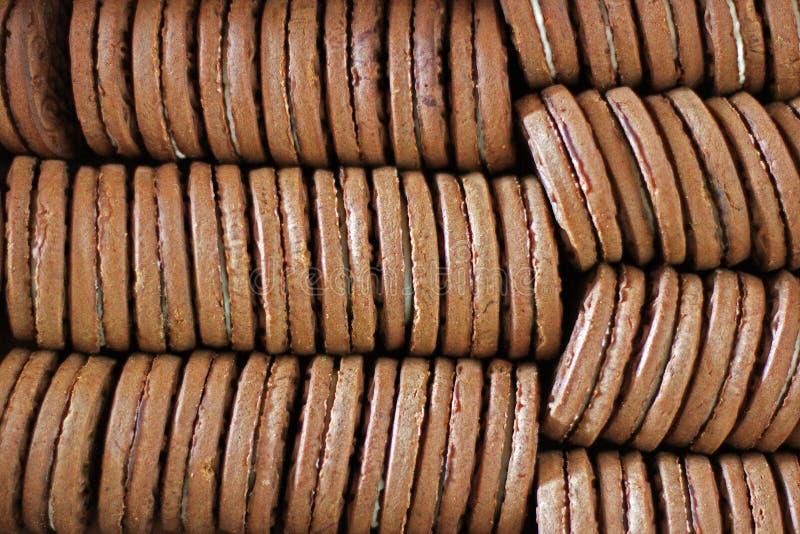 Hintergrund vom Lebensmittel Keks stockbild
