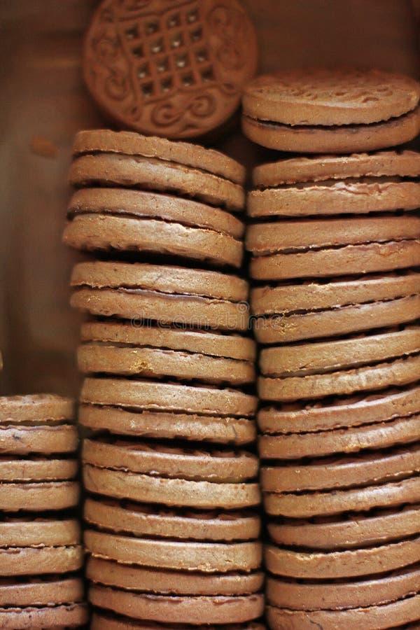 Hintergrund vom Lebensmittel Keks stockfotografie