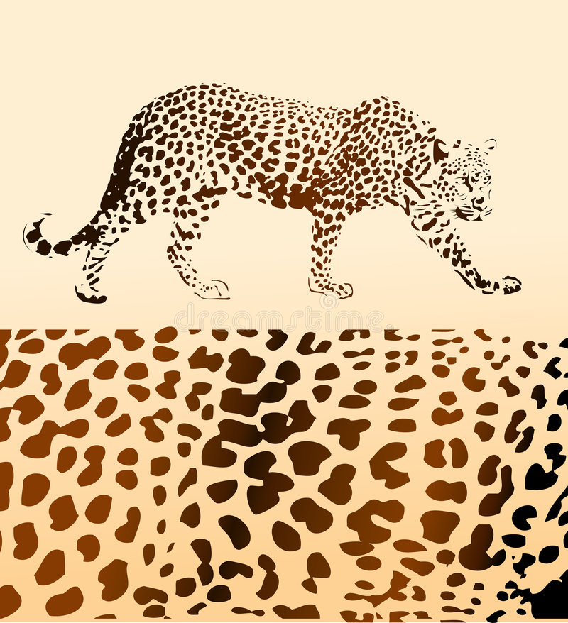 Hintergrund vom Leoparden lizenzfreie abbildung