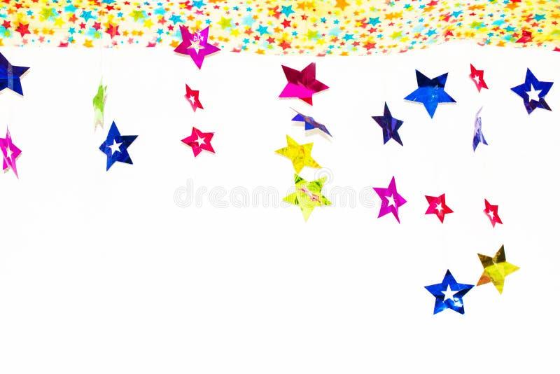 Hintergrund vom Papier von glänzenden Sternen stockfoto